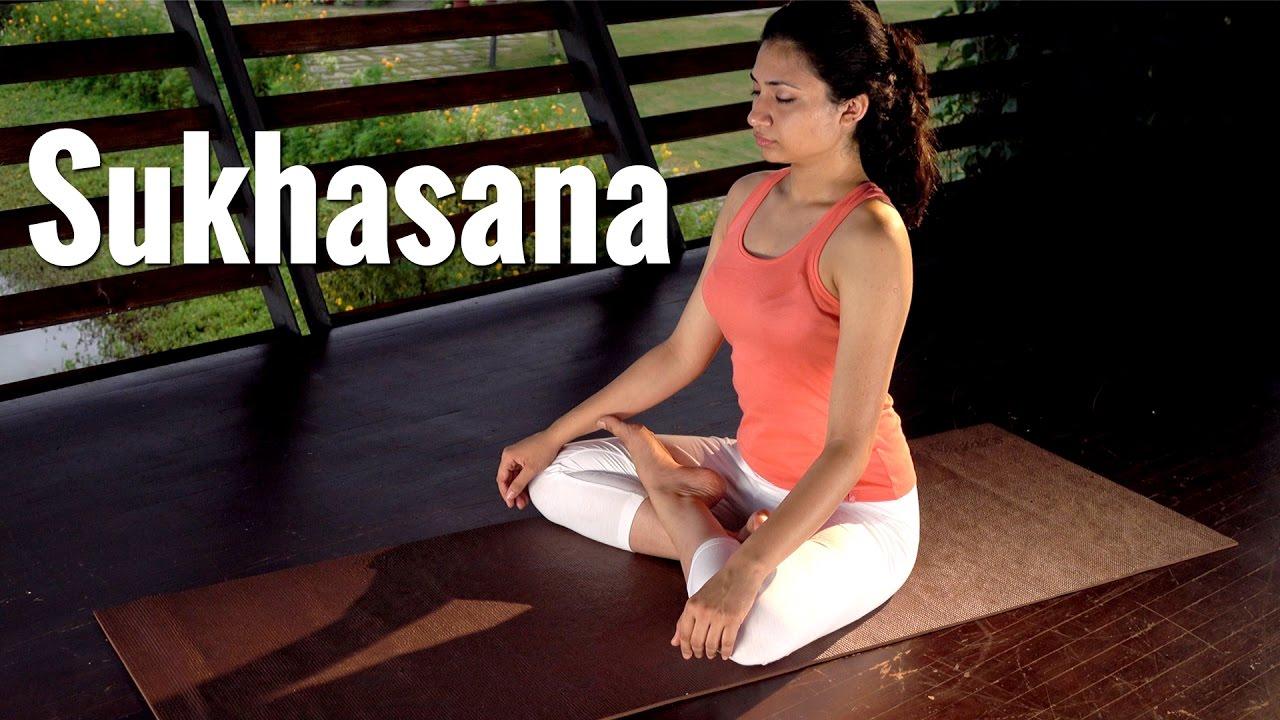 Sukhasana, cross-legged seating posture in Yogasana