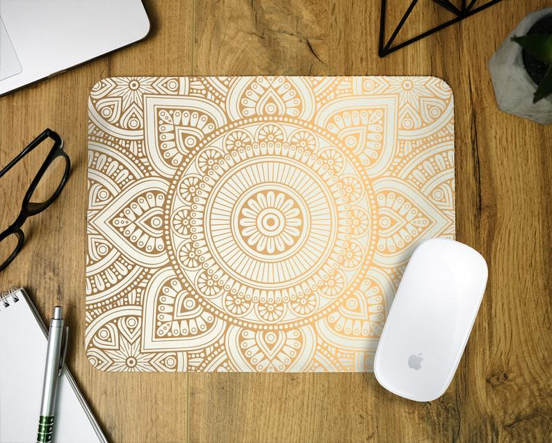 Mandala mouse pad Desktop Mouse Pad Office gift #153