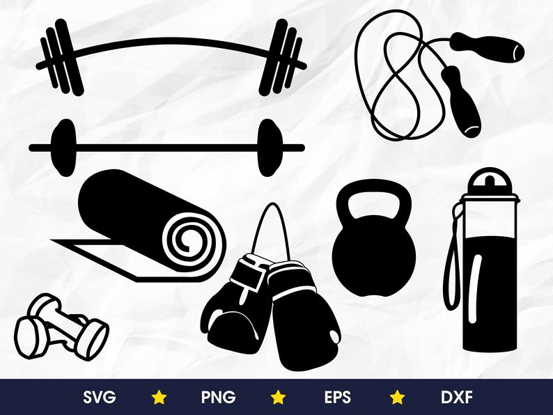Workout svg bundle, png, eps, dxf
