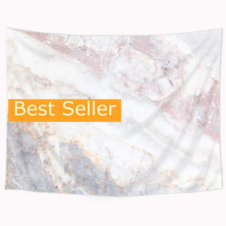 Tapestry Marble Tapestry Wall Hanging Pink White Gray 51×59 Inch Crack Stone Textured Authentic Nature Elegance Bedroom Living Room Dorm