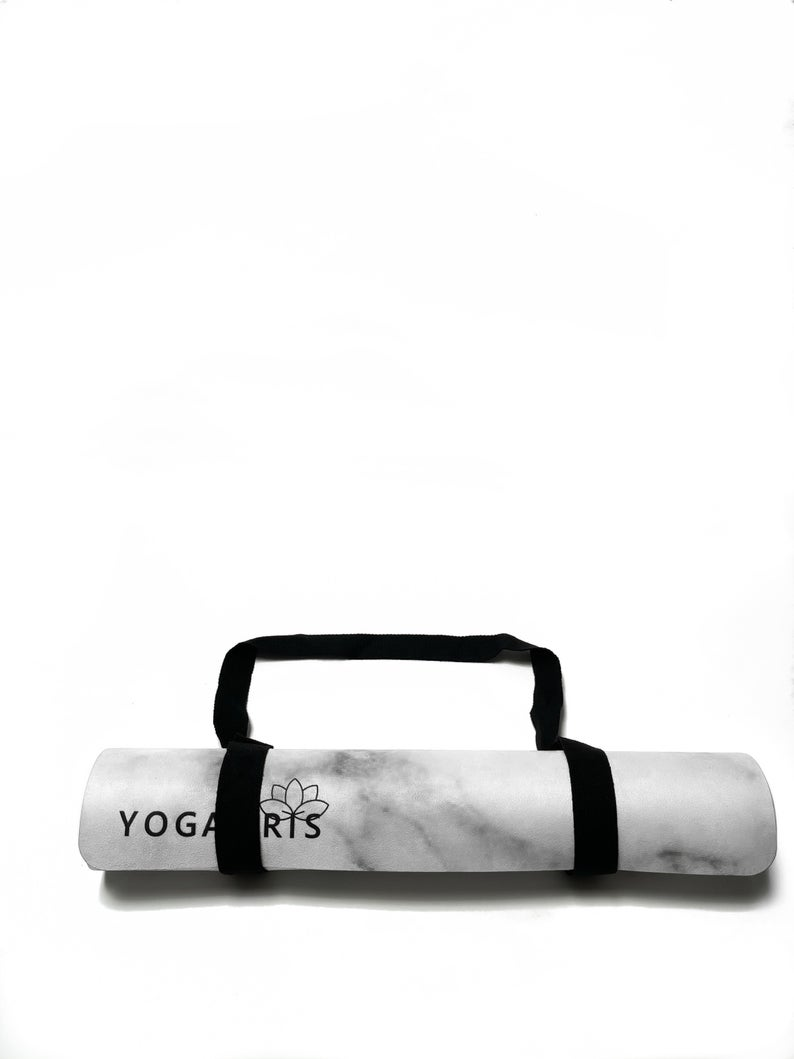 YogaIris Suede Marble Print Yoga Mat | Eco-Friendly Luxury Material | Foldable 3.5 mm Non-slip Yoga Mat With Carrying Strap|  Exercise Mat