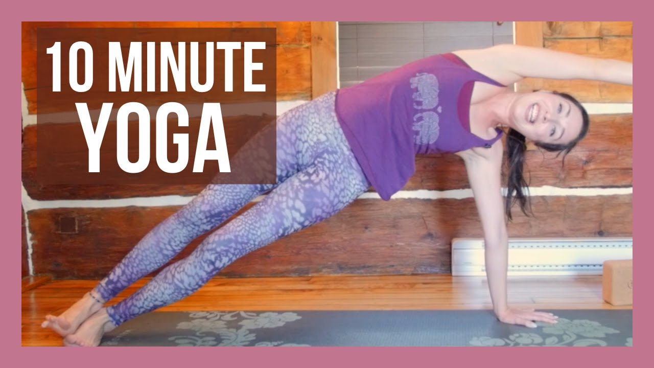 10 min Morning Yoga for Strength – FULL BODY Yoga Workout NO PROPS