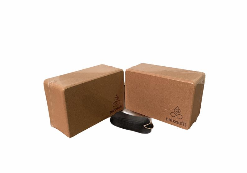Parosefit Yoga Cork Block All Natural Eco-Friendly 100% Cork Yoga Block