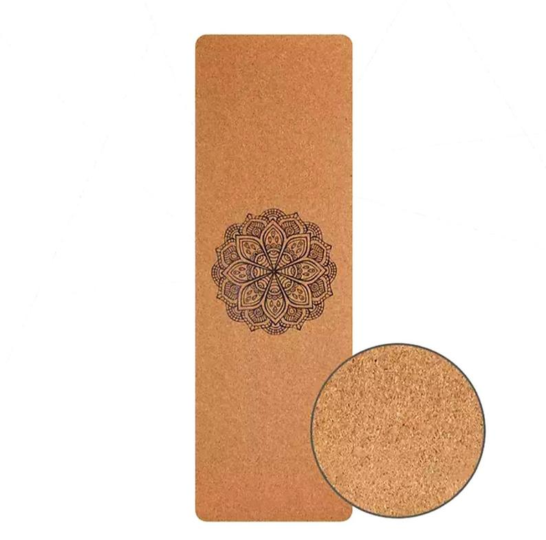 YOGA MAT  /  Natural Cork Yoga Mat – Eco Friendly Anti-slip / Organic Mat for Yoga, Pilates, Meditation, Fitness & Exercise