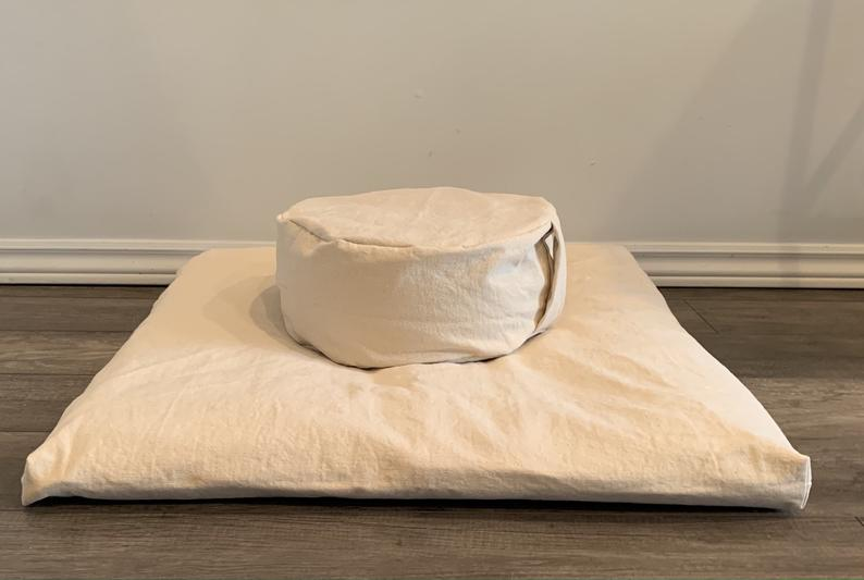 Meditation Cushion Set – Oatmeal
