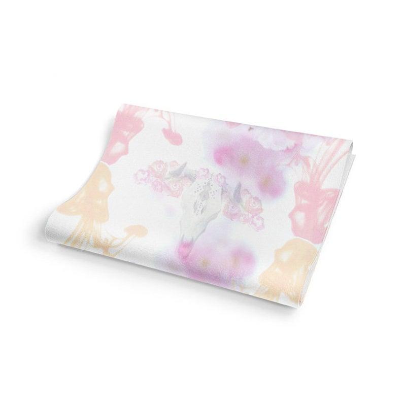 Boho Blossom Bohemian Floral Custom Printed ECO Non-Slip Yoga Mat USA Made