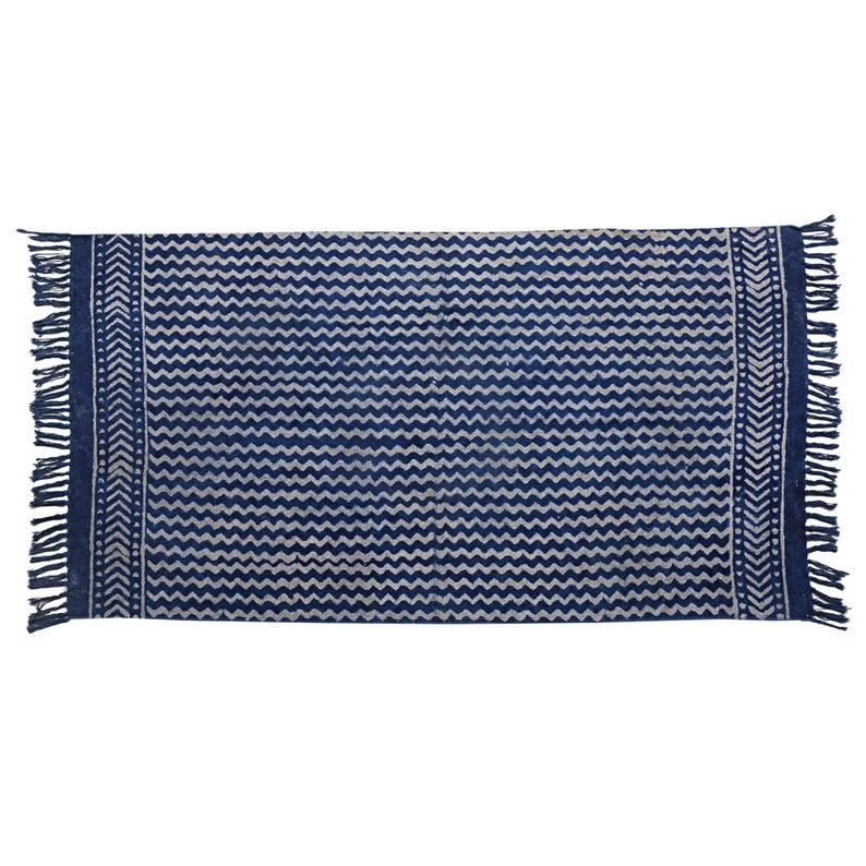 2×3″ Feet Indigo Rug, Hand Woven Rug, Indigo Cotton Rug, Area Rug, Boho Rug, Decorative Rug, Handmade Rugs, Birthday Present