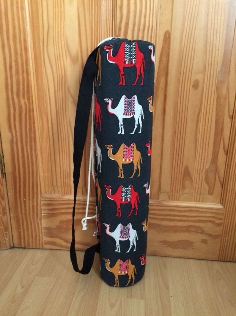 Yoga  Mat Bag Camel print