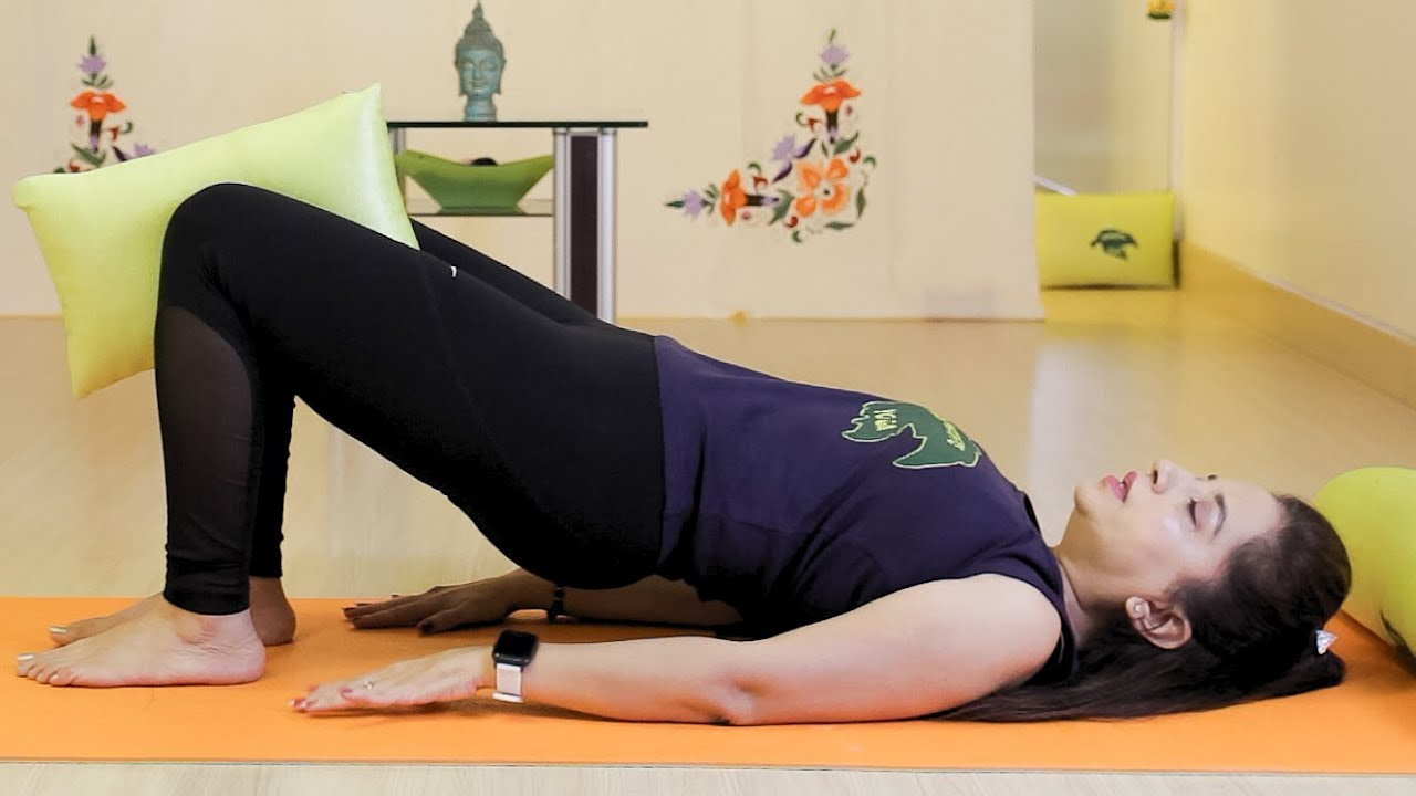 Pillow Exercises Before Bedtime | 6 Yoga Exercises Using A Pillow For Better Sleep