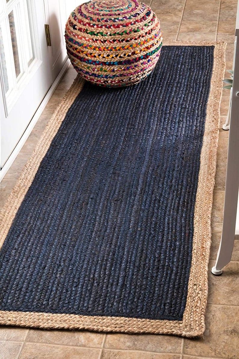 2.5×6,2.5×8,2.5×10,2.5×12,2.5×14,2.5×20 Ft. indian handmade blue color morocco rug/entryway runner/hemp yoga mat/home decor rug/glary runner