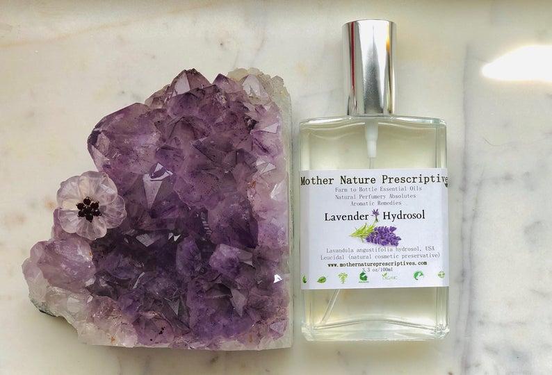 Organic Lavender Hydrosol Vegan Face Toner Yoga Mat Cleaner Sleep Relaxation Heals Skin Floral Hydrolat Gift Cruelty Free Free Shipping