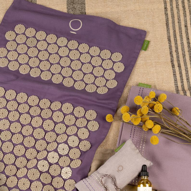 The Wonder Mat, Sunset Lavender, Accupressure Mat, Reflexology Mat, Spike Mat, Relaxation, Travel,  Gift for yoga Lovers, Tension Relief.