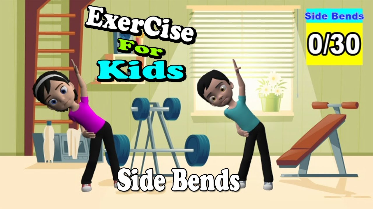 Kids Exercise – Cartoon Videos – Side Bends