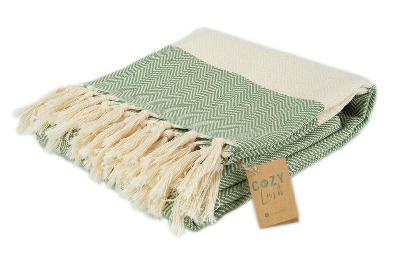 Green TURKISH COTTON THROW   100% Natural Cotton Bath Towel   Hand Towel   Face Towel   Guest Towel   Unique Wedding Gift