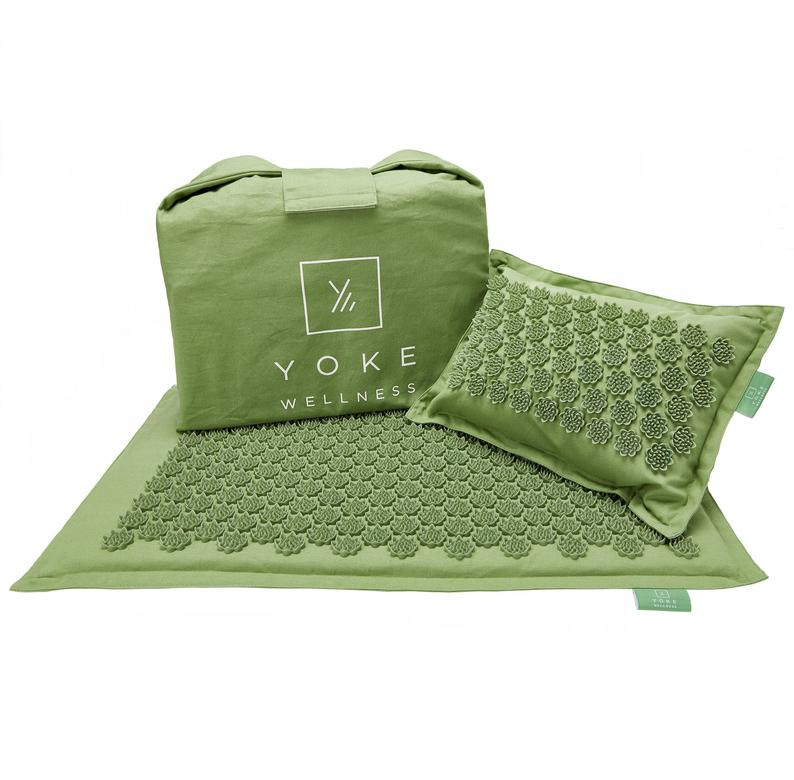Eco Acupressure Mat & Pillow Bundle -Organic Massage Mat for Stress and Anxiety Relief (Free, Fast Shipping!)