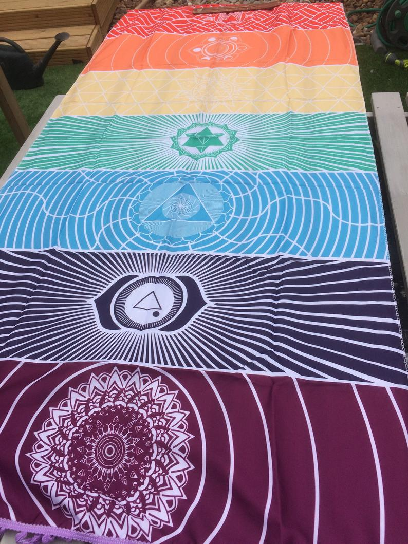 7 Chakras coloured mat