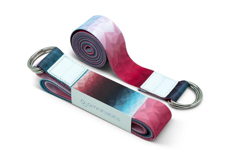 omnihabits yoga strap, yoga strap, yoga strap, carrying strap for yoga mats, carrying strap, with highly detailed print