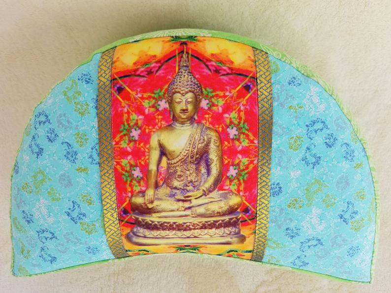 Meditation Pillow Yoga Pillow Bassetti Fabric Yoga Meditation Tantra Zafu Bolster Crescent Pillow Floor Pillow