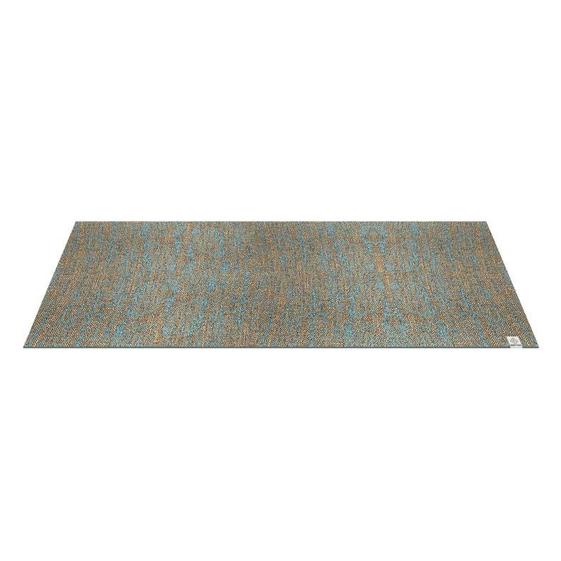 Eco-friendly, organic jute , printed yoga mat – Blue