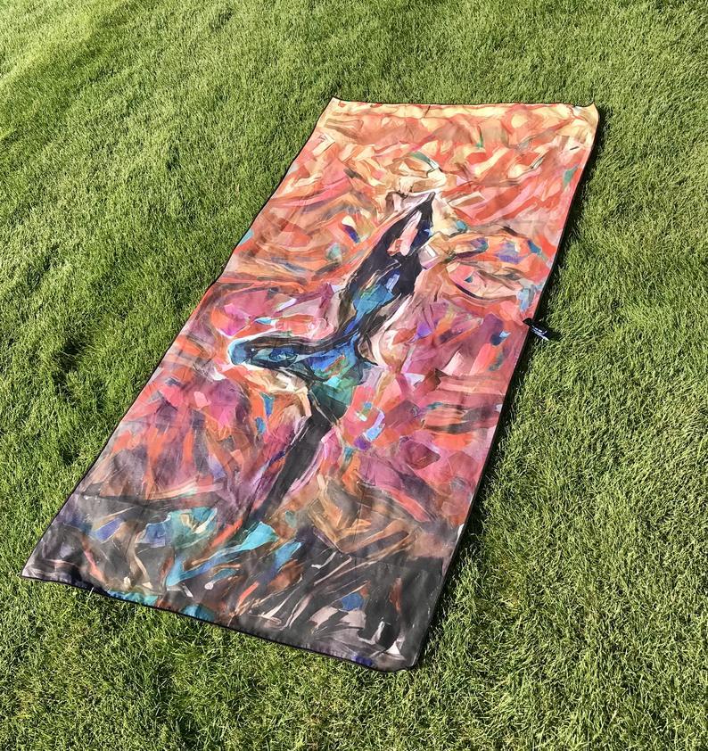 Microfiber Yoga Travel Beach Towel.