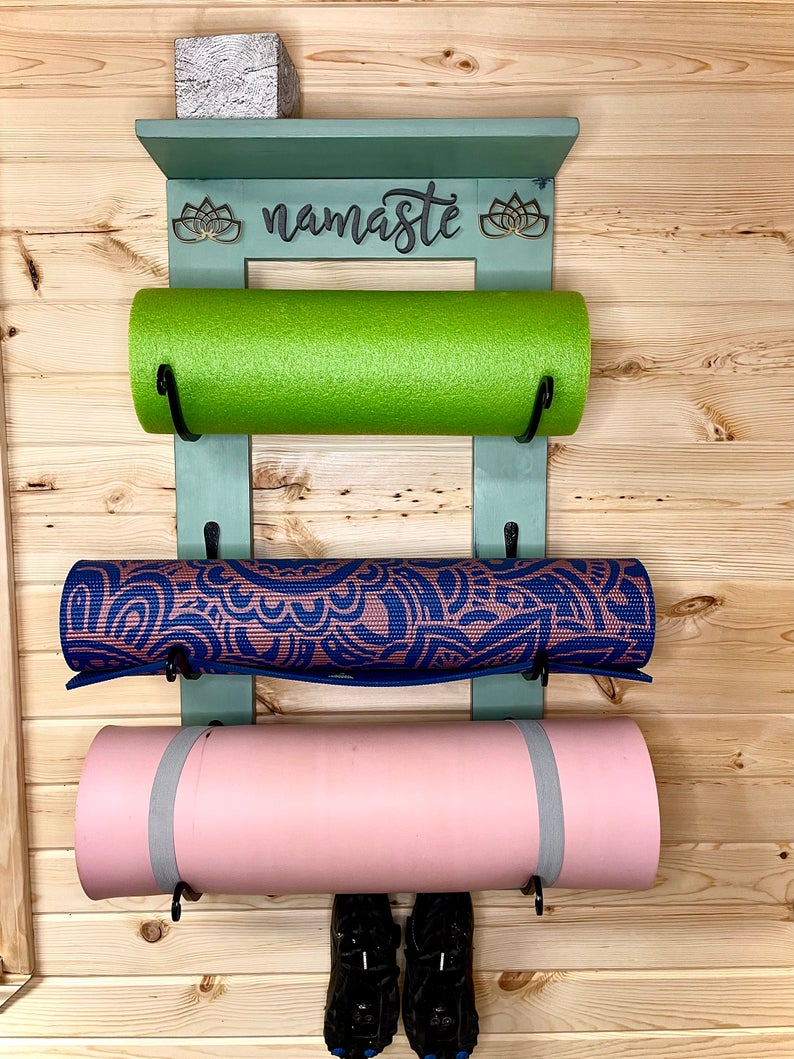 Personalized Yoga Mat Holder/Rack