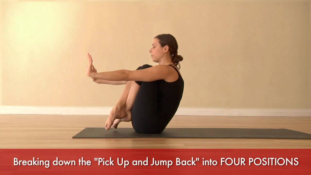 Practicing the Ashtanga Yoga Pick Up and Jump Back with MARIA VILLELLA: The Four Positions