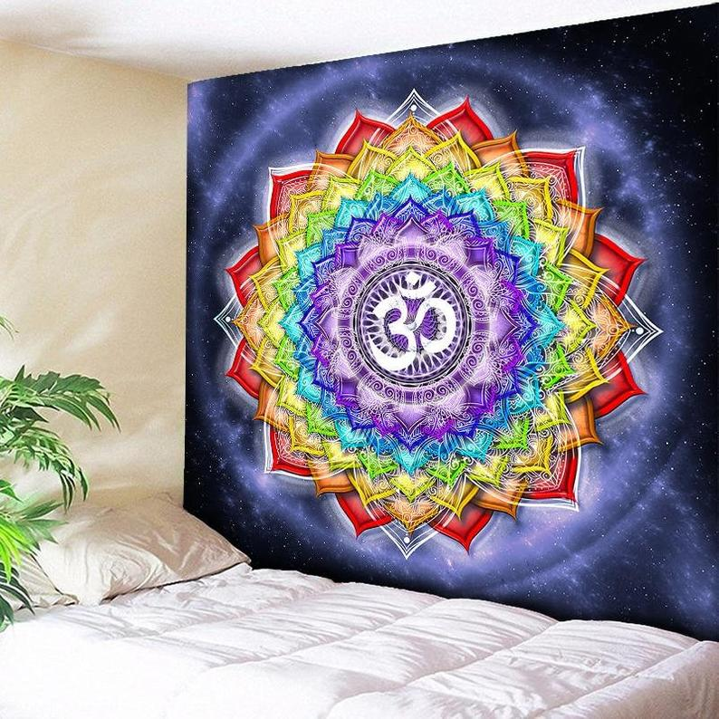 Colorful Wall Hanging Tapestries Indian Mandala Tapestry Hippie Chakra Tapestry Boho Decor Wall Cloth Yoga Mats Bohemian Fabric – Free Shipp
