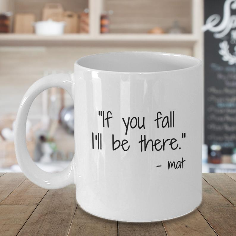 Funny Yoga Coffee Mug Gift, If You Fall I'll Be There, Dorky Joke, Super Cute Present for Birthdays or Christmas, For Yoga Lovers,