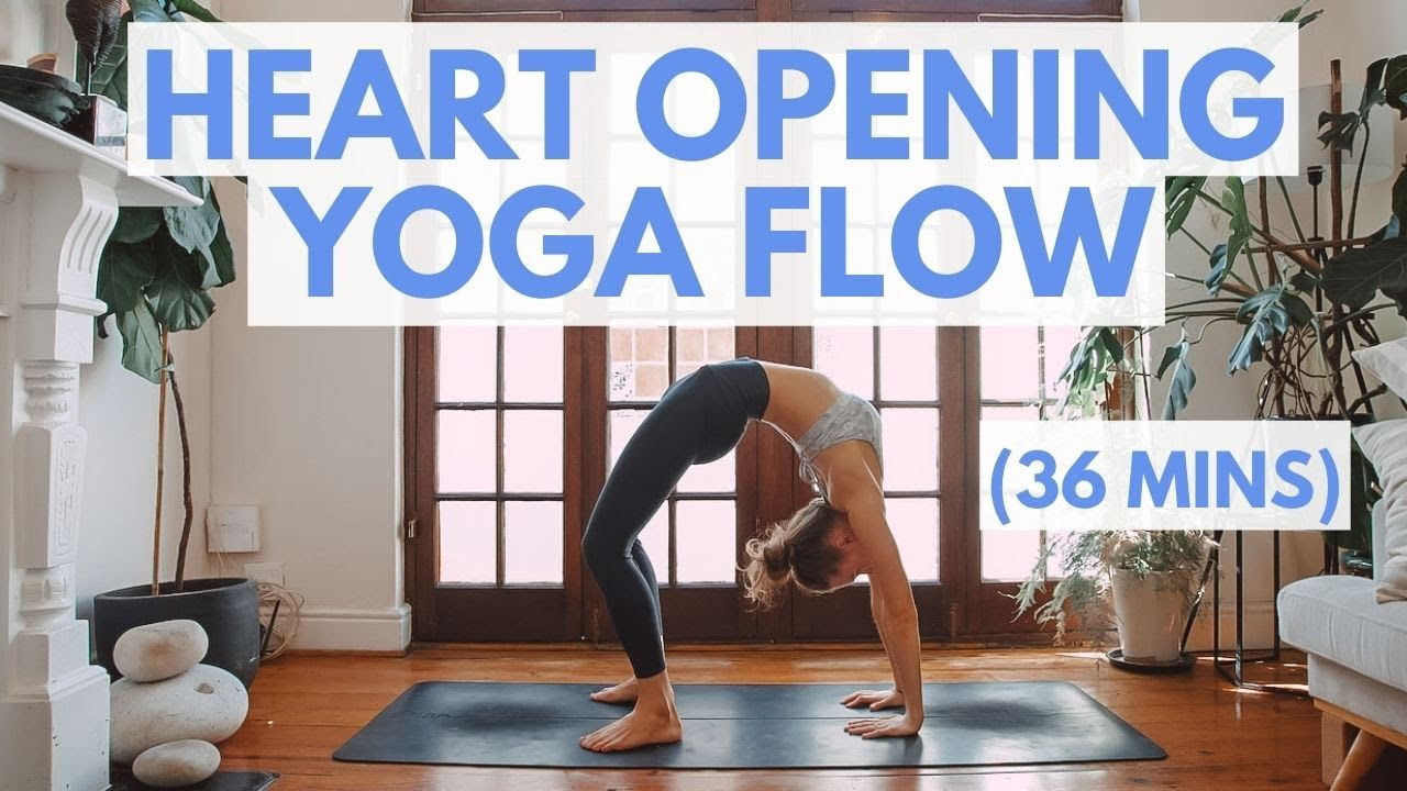 HEART OPENING YOGA FLOW | Strong Backbend Yoga Flow (36 mins)