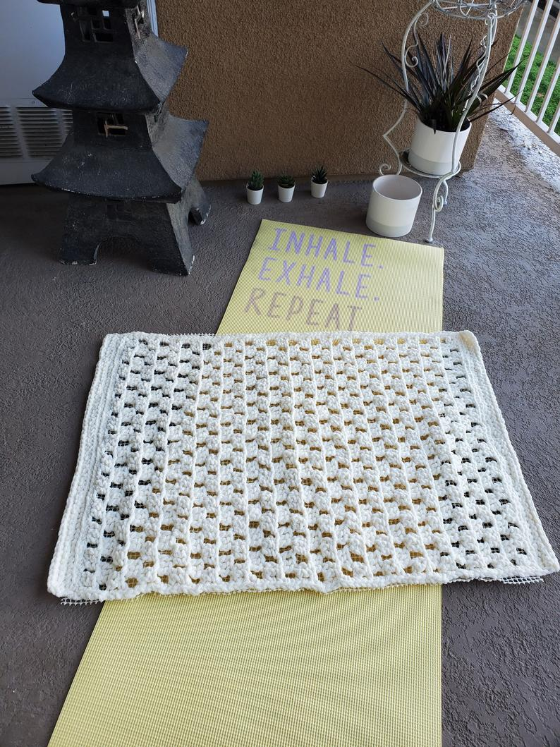 Crochet Meditation Mat – Squares Pattern