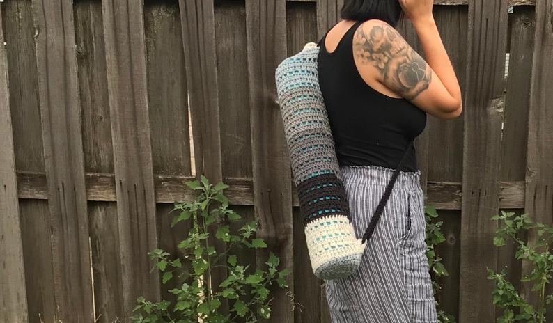 Multicolor Yoga Mat Bag/Carrier//Monochrome Yoga Mat Bag