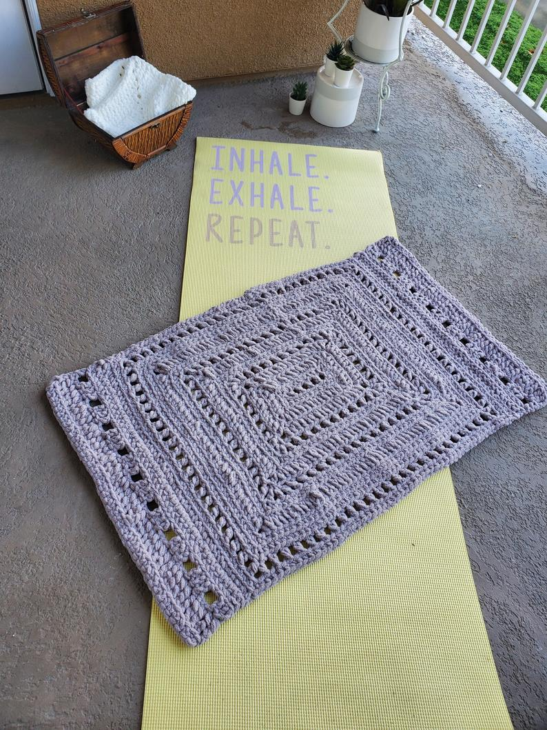Crochet Meditation Mat – Large
