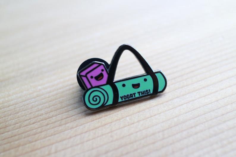 Yoga Enamel Pin