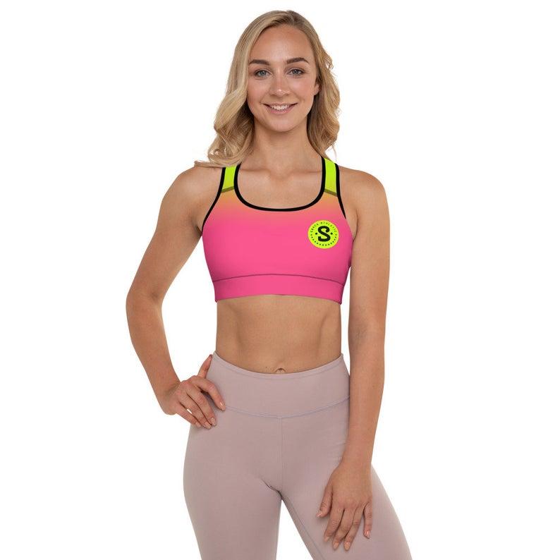 Neon Ultra Women's Workout Yoga Padded Sports Bra | Neon Pink