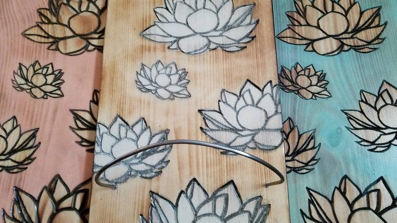 1 – 3 tiered Lotus yoga mat holder