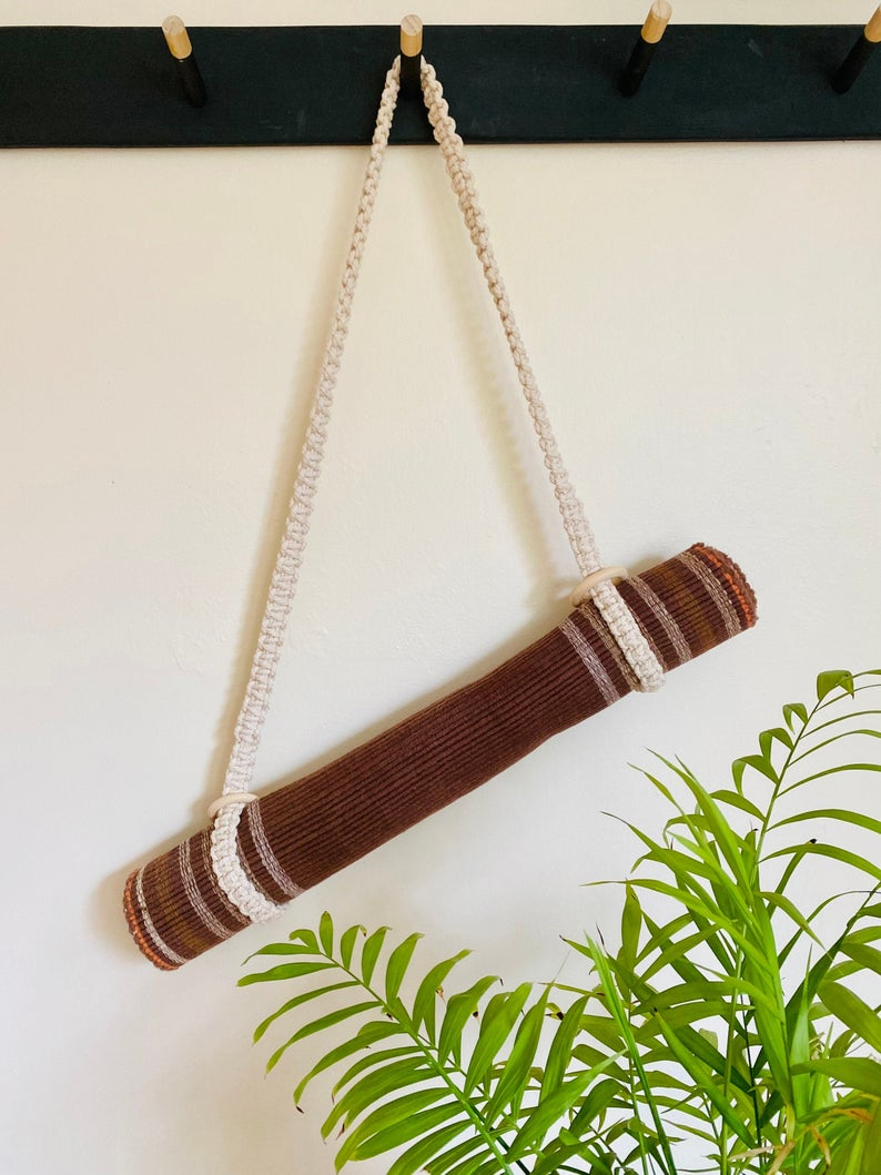 Macrame Yoga Mat Strap | Pilates Mat Carrier | Handmade Mat sling | Yoga Gift | Boho Strap