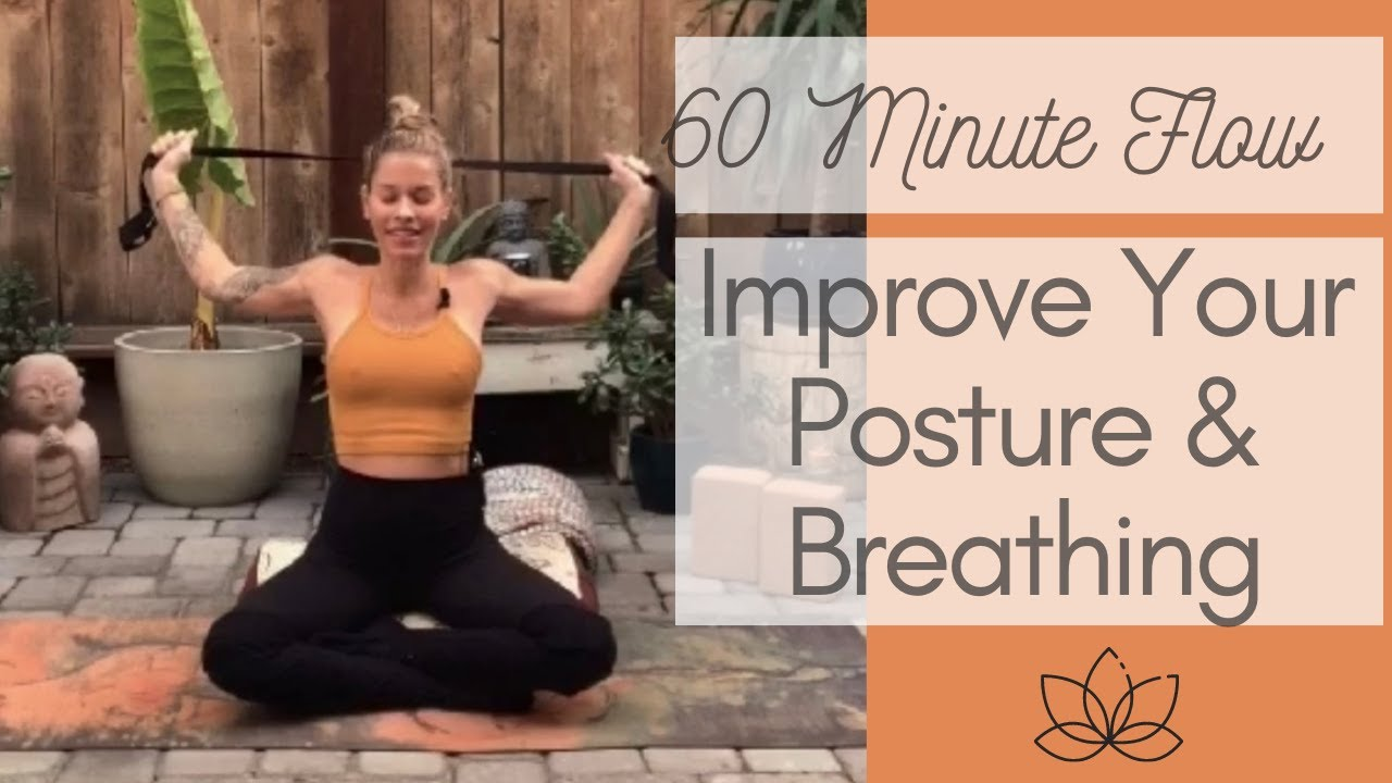 60 Minute Yoga to Improve Posture & Breathing / Safe for Prenatal & Postnatal