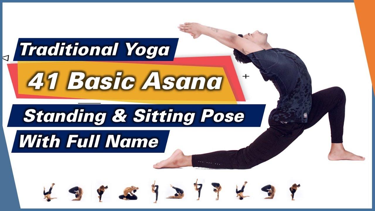 41 Traditional Asana Full Sanskrit Names (Part 1) Standing and Sitting Yoga Pose Names | Yograja