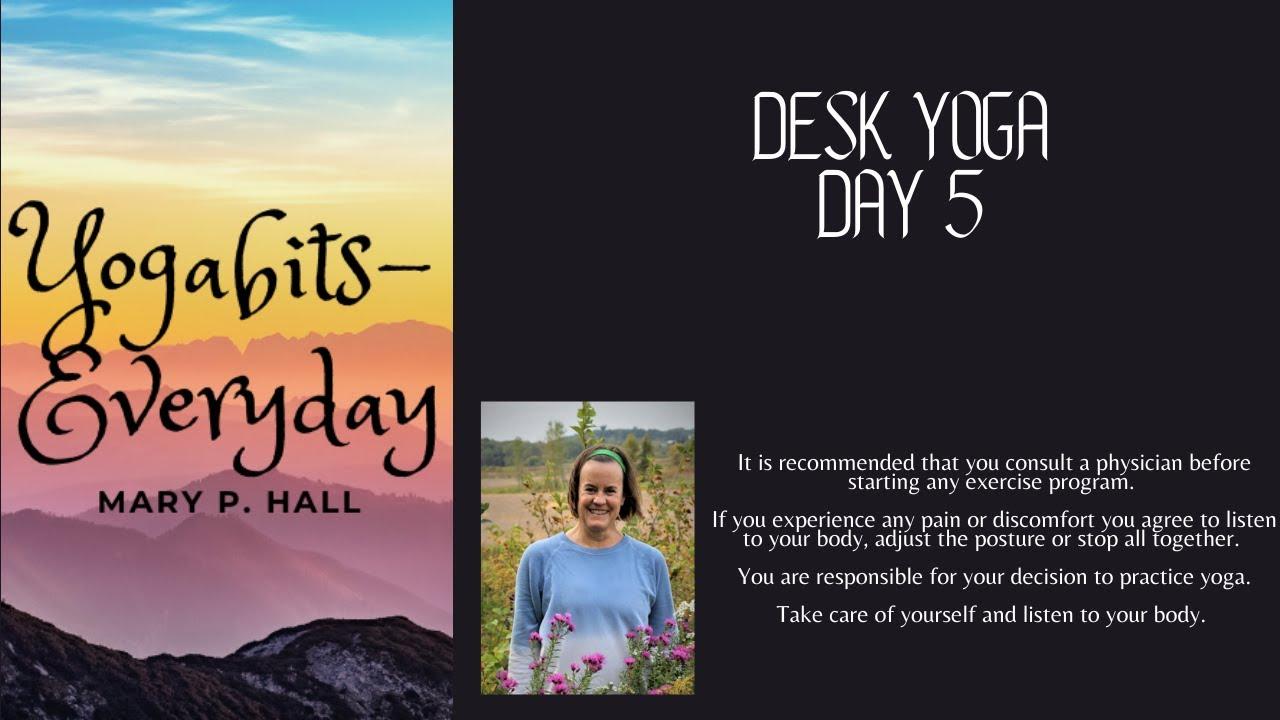 Yogabits-everyday: Desk yoga day 5