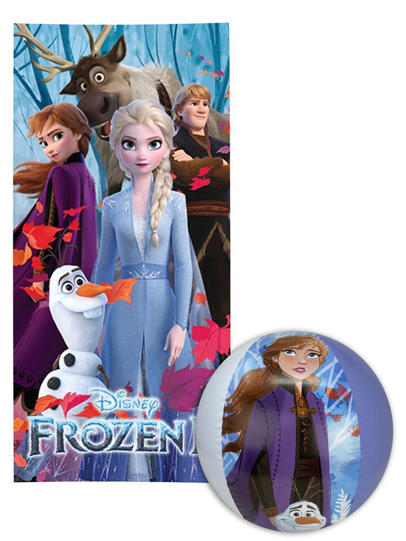 Disney Frozen II Beach Towel & Beach Ball Anna Elsa Olaf Kristoff Sven – Beach towel,bath towel, Picnic mat, Bathrobe spa diving towel