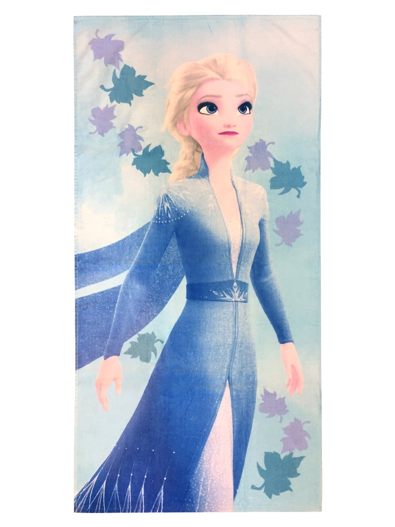 Frozen 2 Elsa Leaves Beach Towel-  Beach towel,bath towel, Picnic mat, Bathrobe spa diving towel