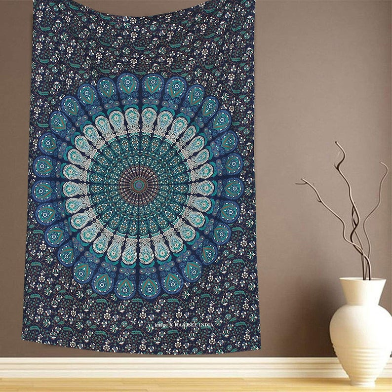 Beautiful Cotton Indian Wall Decor Hippie Tapestries Bohemian Mandala Tapestry Wall Hanging Throw wall hanging Small Yoga Mat Tapestry