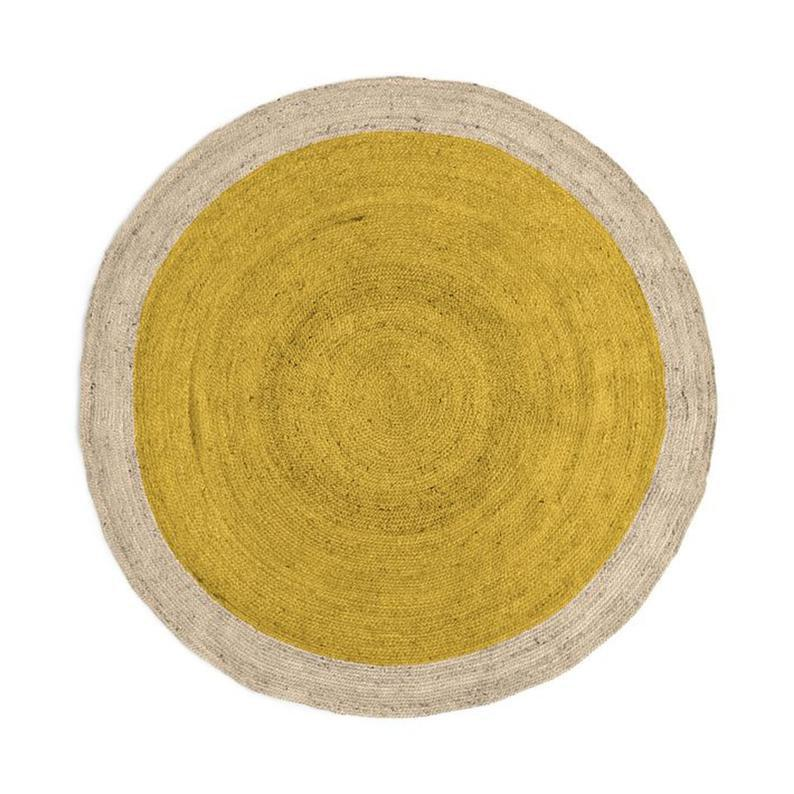 Natural Rug Round Rug Floor Carpet Meditation Rug Rag Indian Beautiful Braided Jute Rug 3×3′