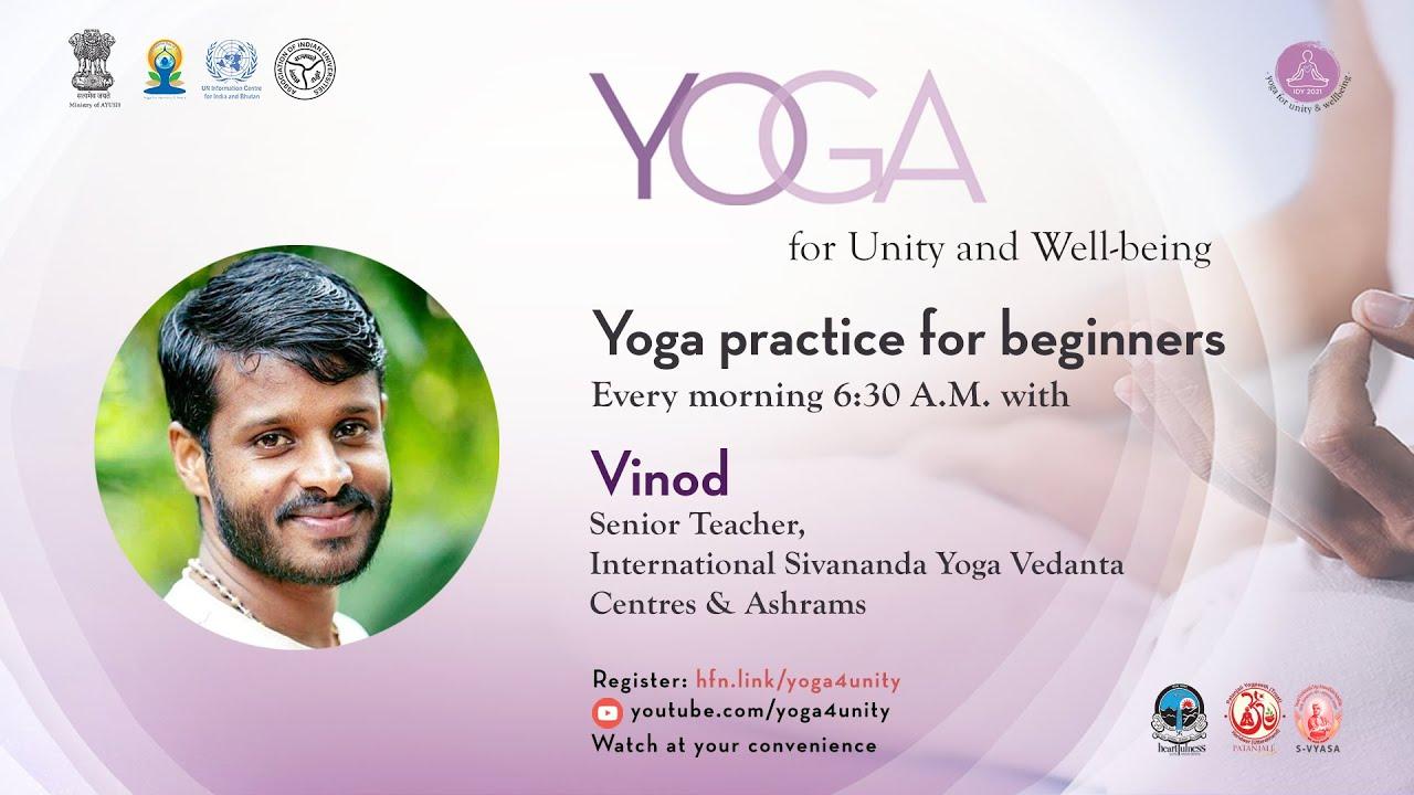 12 Beginners class by Sivananda Yoga school | Heartfulness Meditation | Yoga4Unity and Wellness
