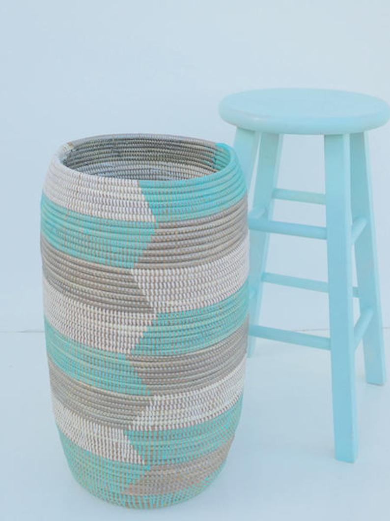 Yoga Mat Holder, Umbrella Stand, Handcrafted  Quality Basket, Modern Design Basket, Chevron
