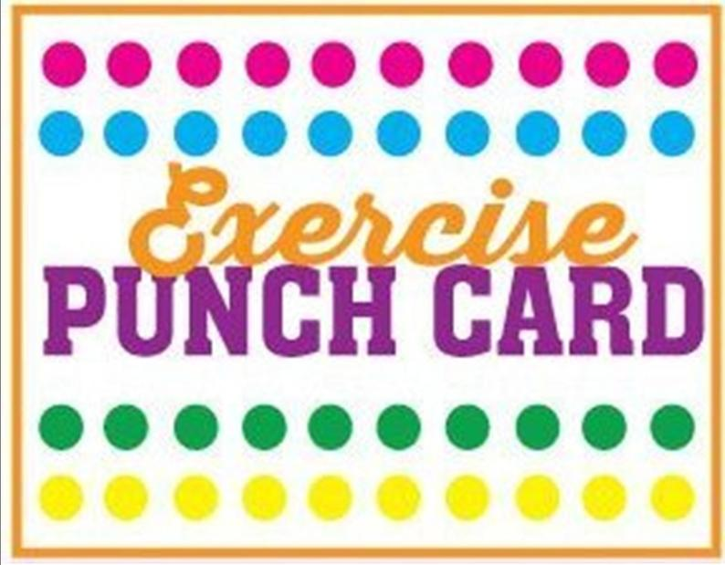 exercise punch card download/downloadable punch card/punch card pdf/downloadable exercise punch card/punch card sheet pdf/pdf download/pdf