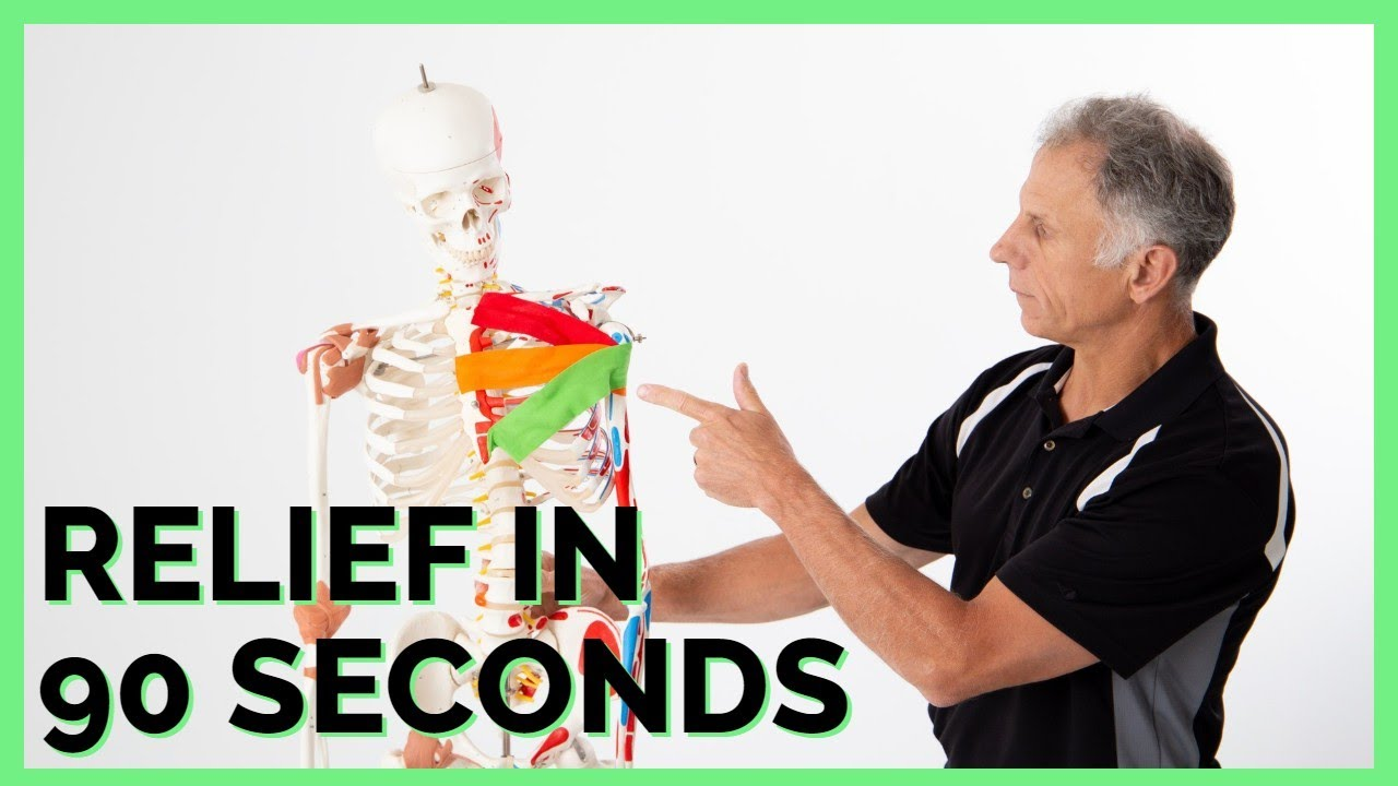 Relieve Chest Muscle Pain (Pecs) in 90 Seconds, Avoid Most Common Mistake Made!