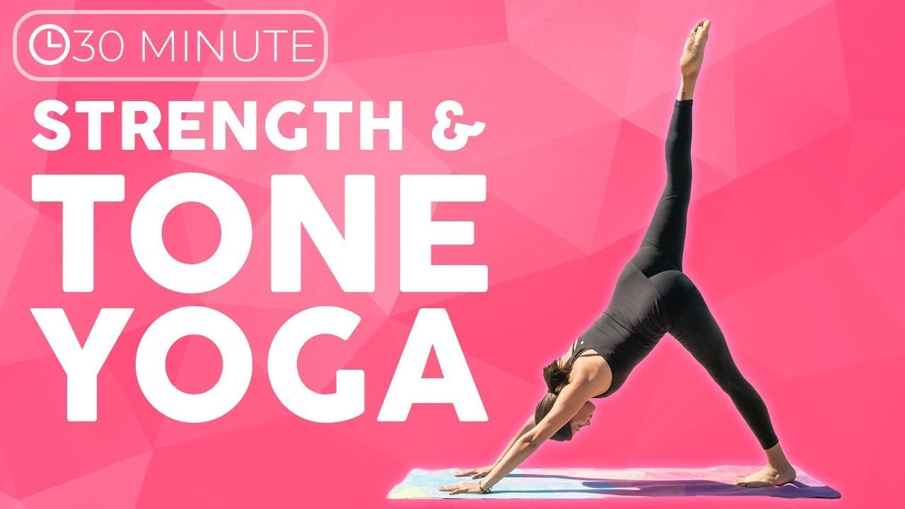 30 minute Full Body Power Yoga Workout   Strength & Tone