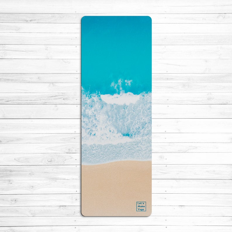 Eco friendly yoga mat Indian Ocean perfect gift for yoga lover