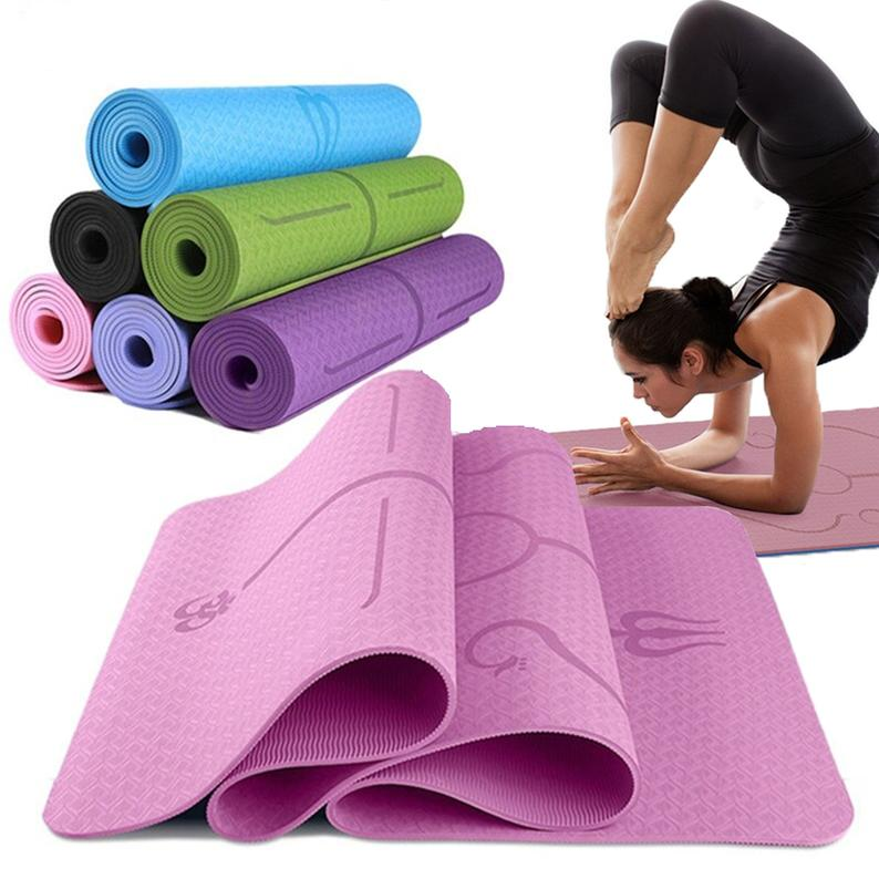 YOGA Anti-Slip Yoga Mat Training Mat Eco Friendly Workout Mats & Strap, Fitness Exercise Mats For Yoga, Gym, Pilates